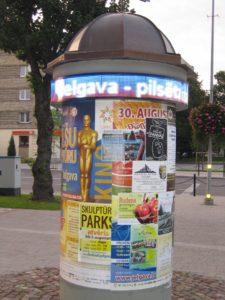 Jelgava - elektro tablo
